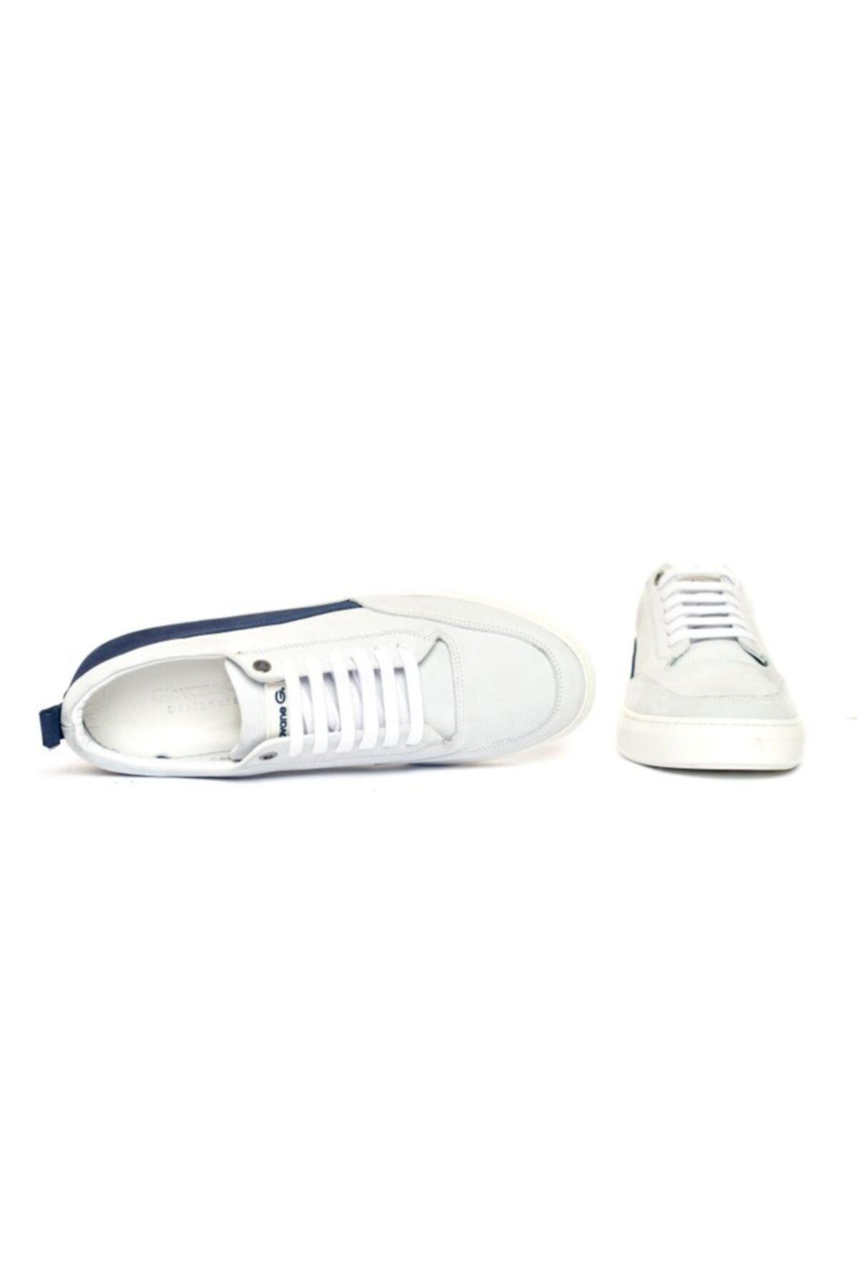 Giovane Gentile Erkek Beyaz Bağcıklı Sneaker 2