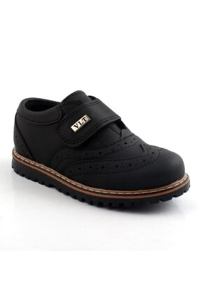 pabucmarketi Erkek Çocuk Siyah Mat Klasik Ayakkabı