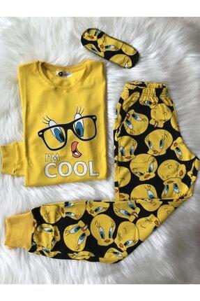 TWEETY Kadın Pamuklu Pijama Takım