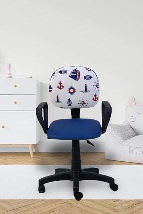 Depolife Çocuk Oyun Faaliyet Ofis Sandalyesi Koltuğu Mavi Denizci