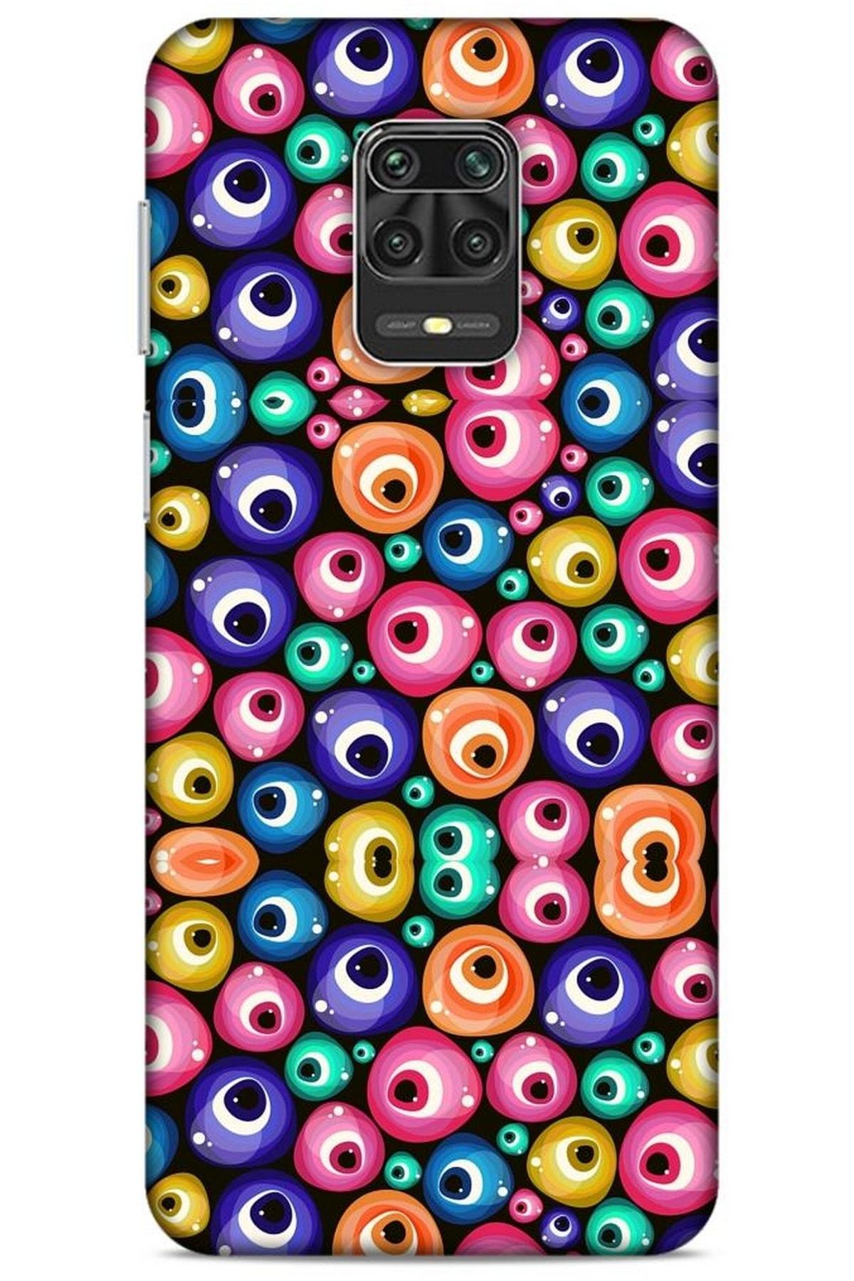 Lopard Nazarium (9) Desenli Silikon Kapak Xiaomi Redmi Note 9 Pro Kılıf 1