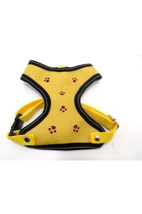 Bambino Deri Göğüs Tasma L Sarı