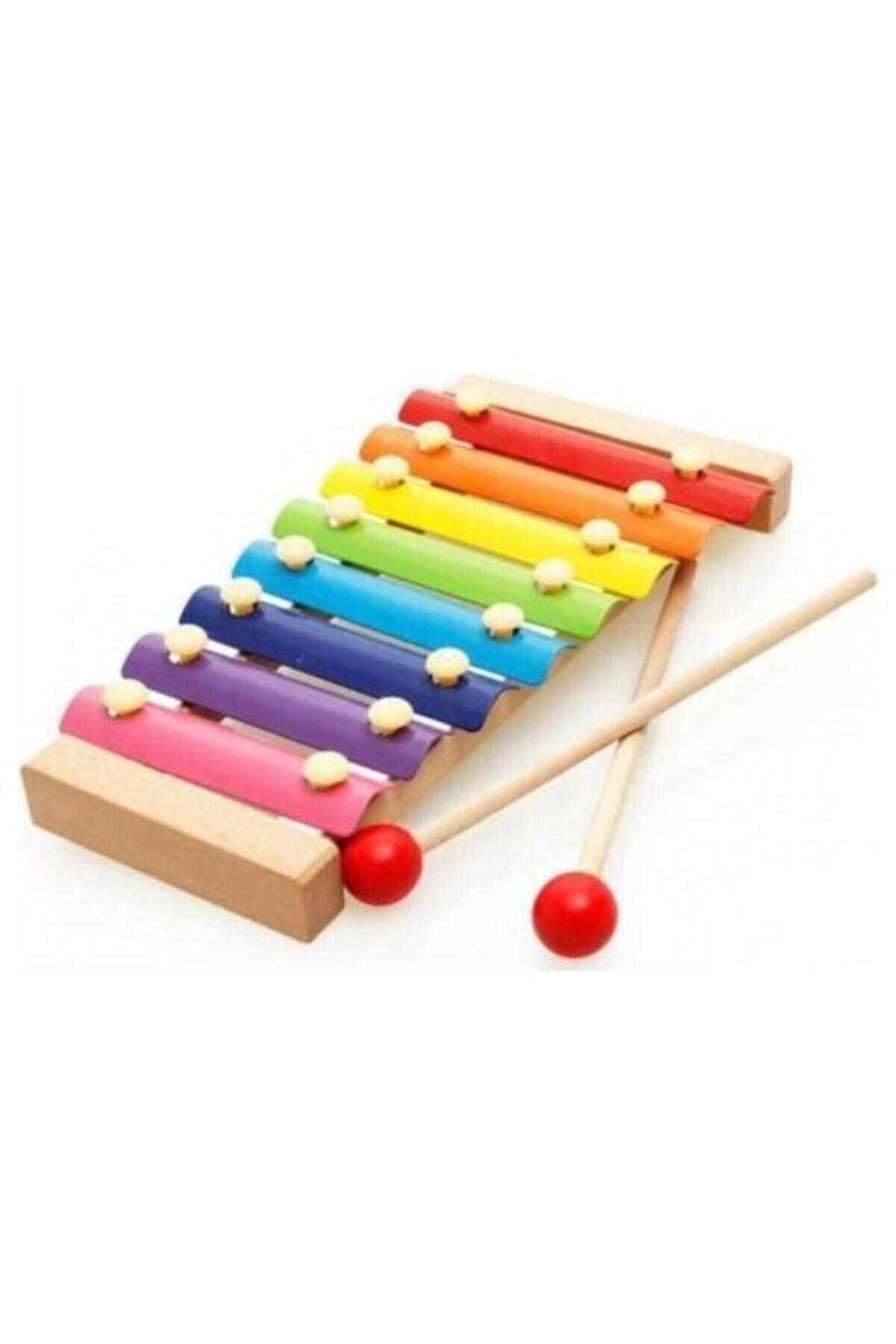 Wooden Toys Eğitici Ahşap Ksilofon 8 Nota 8 Ton 25 Cm 1