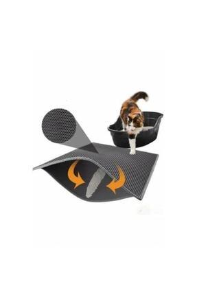 Mia Elekli Kedi Tuvalet Önü Paspası 60 X 45 Cm Gri