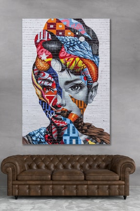 Hediyeler Kapında 70x100 Dekoratif Renkli Kanvas Duvar Tablo