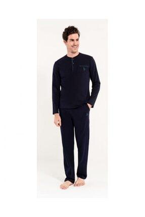 U.S. Polo Assn. Erkek Lacivert Mevsimlik Penye Pijama Takımı