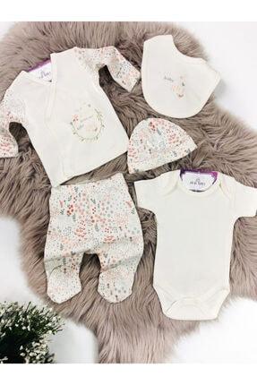 Ciccim Baby Kız Bebek Bej 5'li Zıbın Takımı