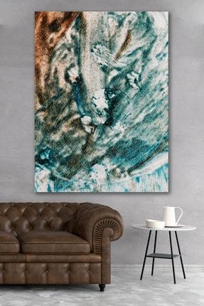 Hediyeler Kapında Yağlı Boya Görünümlü Turkuaz Kanvas Tablo 70x100