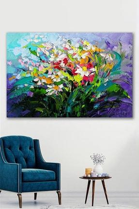 Hediyeler Kapında Yağlı Boya Görünümlü Çiçek Kardeşliği Kanvas Tablo 90x130