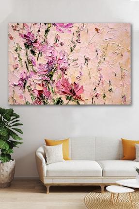 Hediyeler Kapında Yağlı Boya Görünümlü Soft Pink Kanvas Tablo 100x140cm