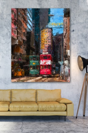 Hediyeler Kapında Yağlı Boya Görünümlü London Kanvas Tablo 100x140