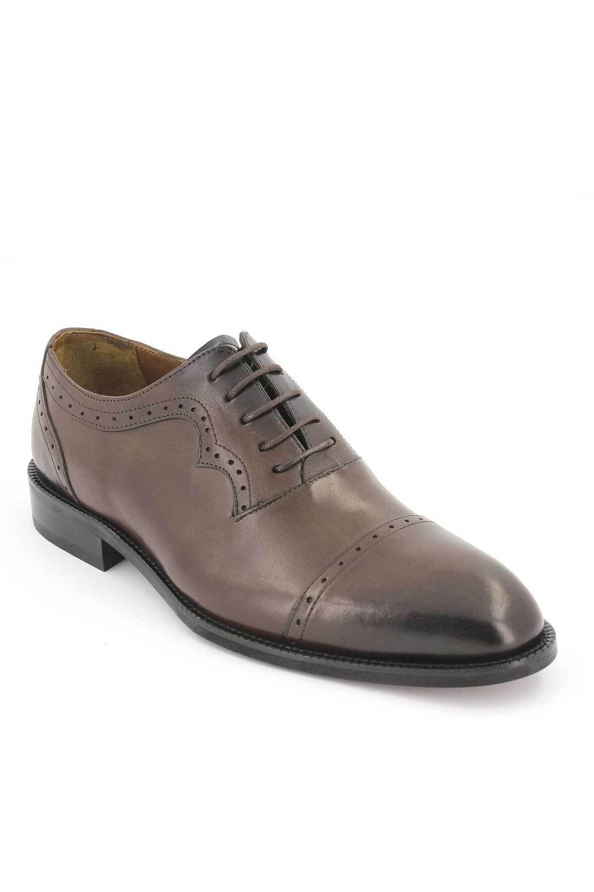 Venüs Erkek Kahverengi Klasik Deri Ayakkabı 1