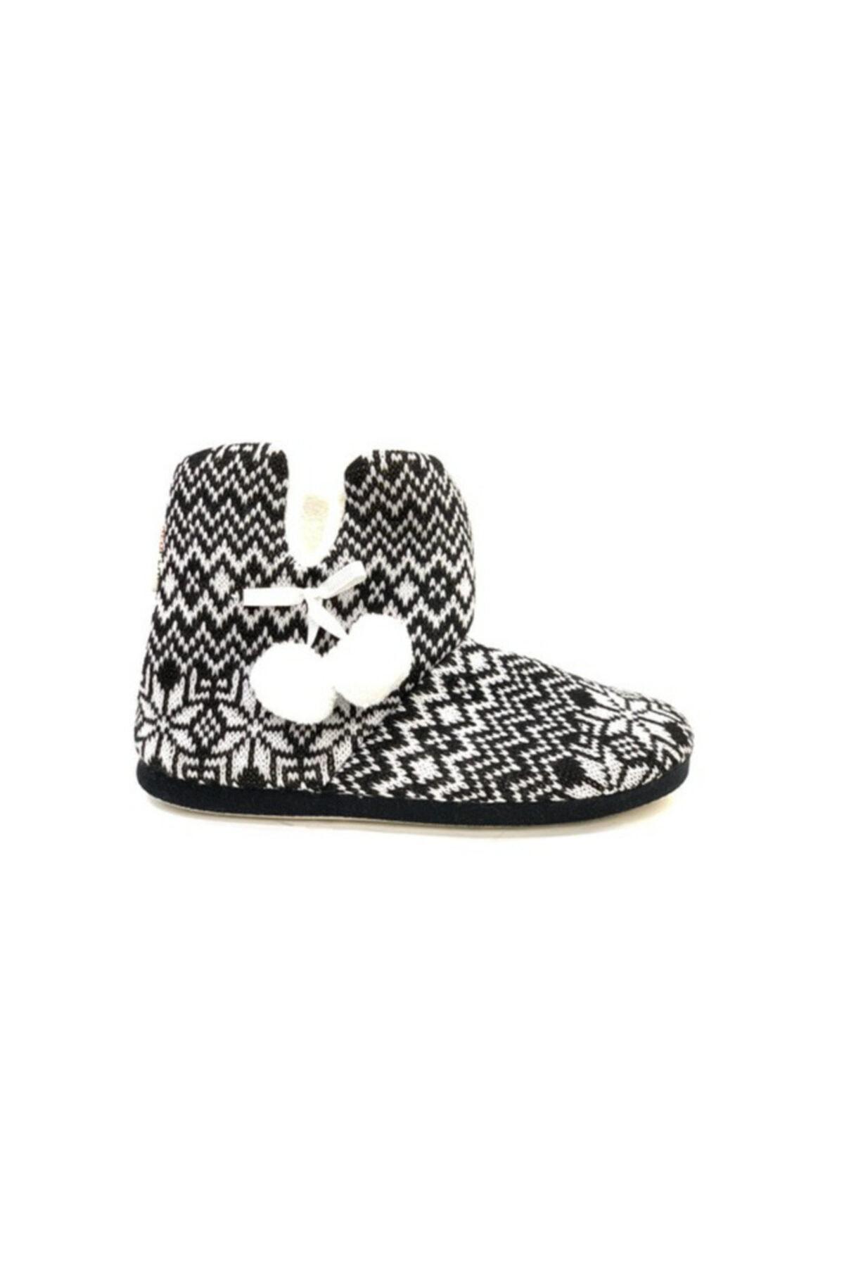 RedPlay Kadın Siyah Ev Botu Ayakkabısı 1