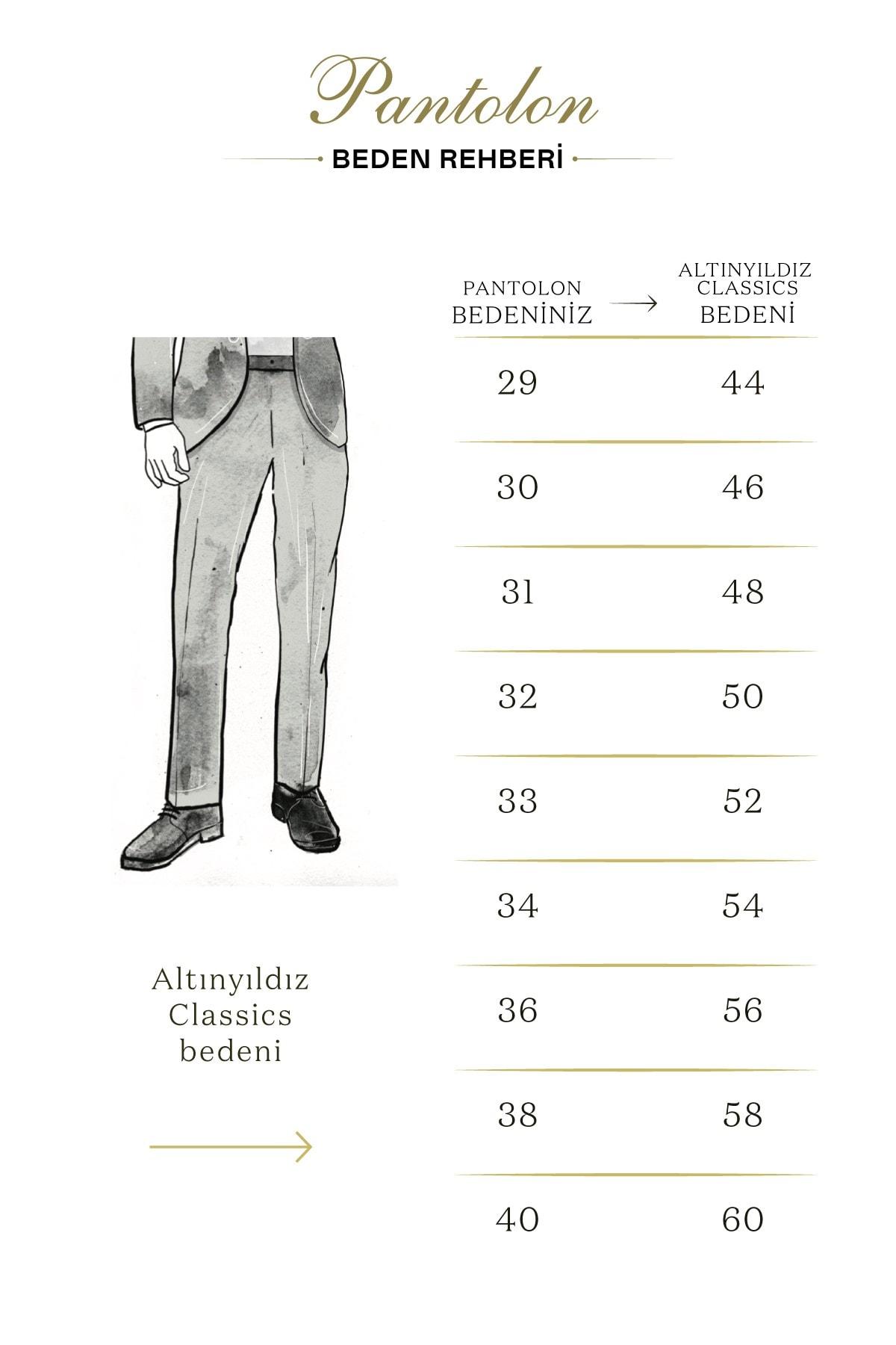 ALTINYILDIZ CLASSICS Erkek Bej Kanvas Slim Fit Chino Pantolon 2