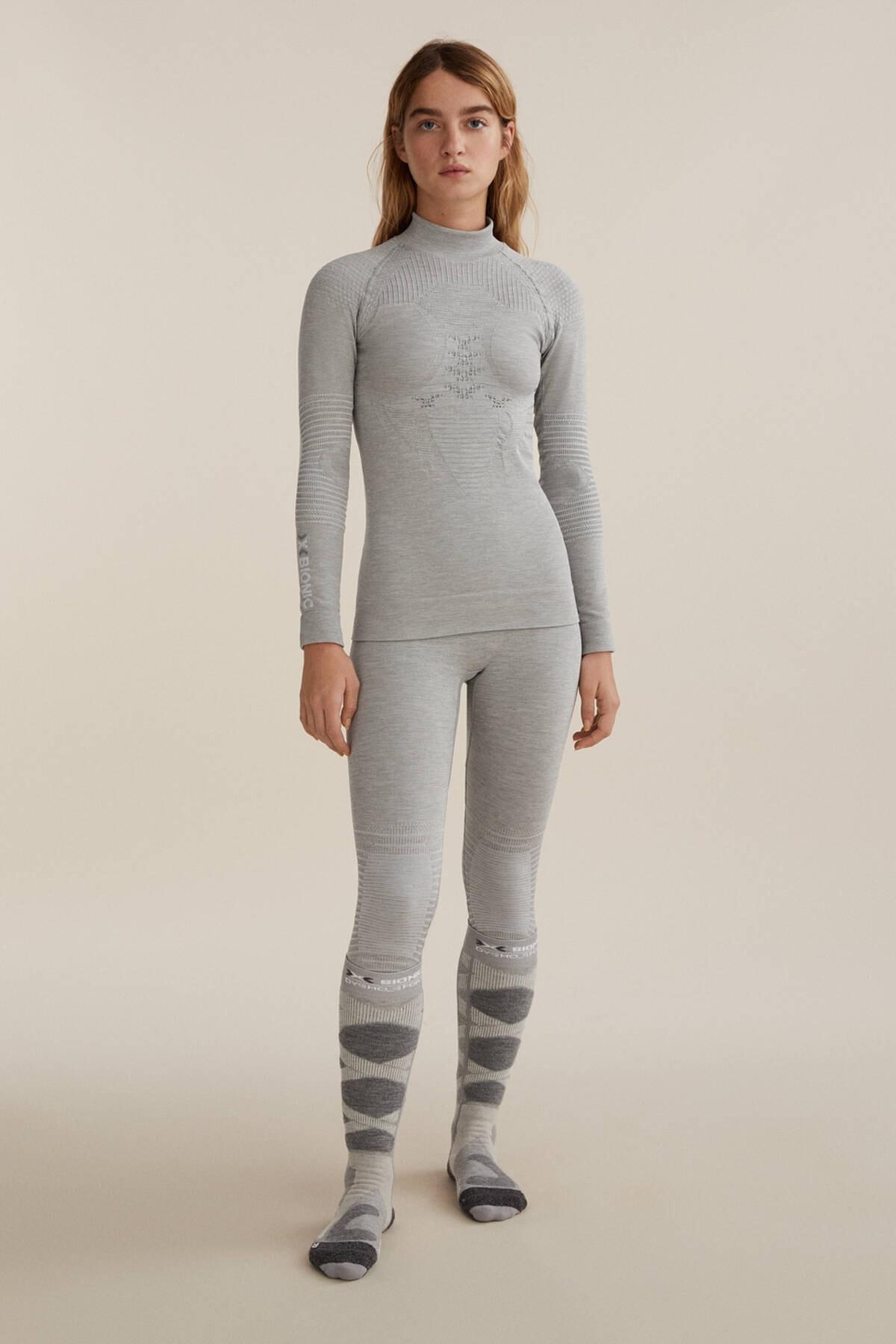 Oysho Kadın Gri Dikişsiz Teknik Kayak Taytı X-Bionic Energizer® 4.0