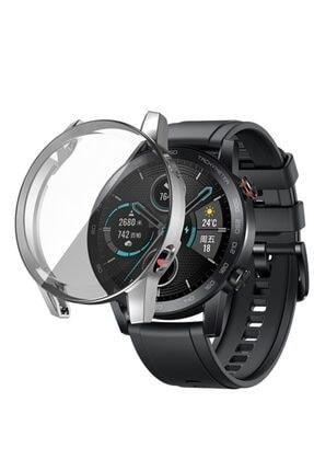 Revix Honor Watch Magic 2 46mm 360 Koruma Ultra Ince Silikon Kılıf (saat Değildir) - Gümüş