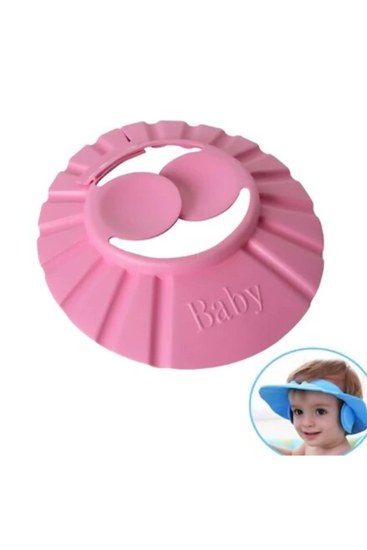 andela Bebek Banyo Şapkası Düğmeli Kulaklıklı 2