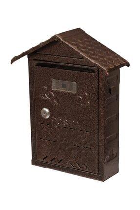 AKSAN 304 Çatılı Metal Posta Kutusu Bakır Dövme