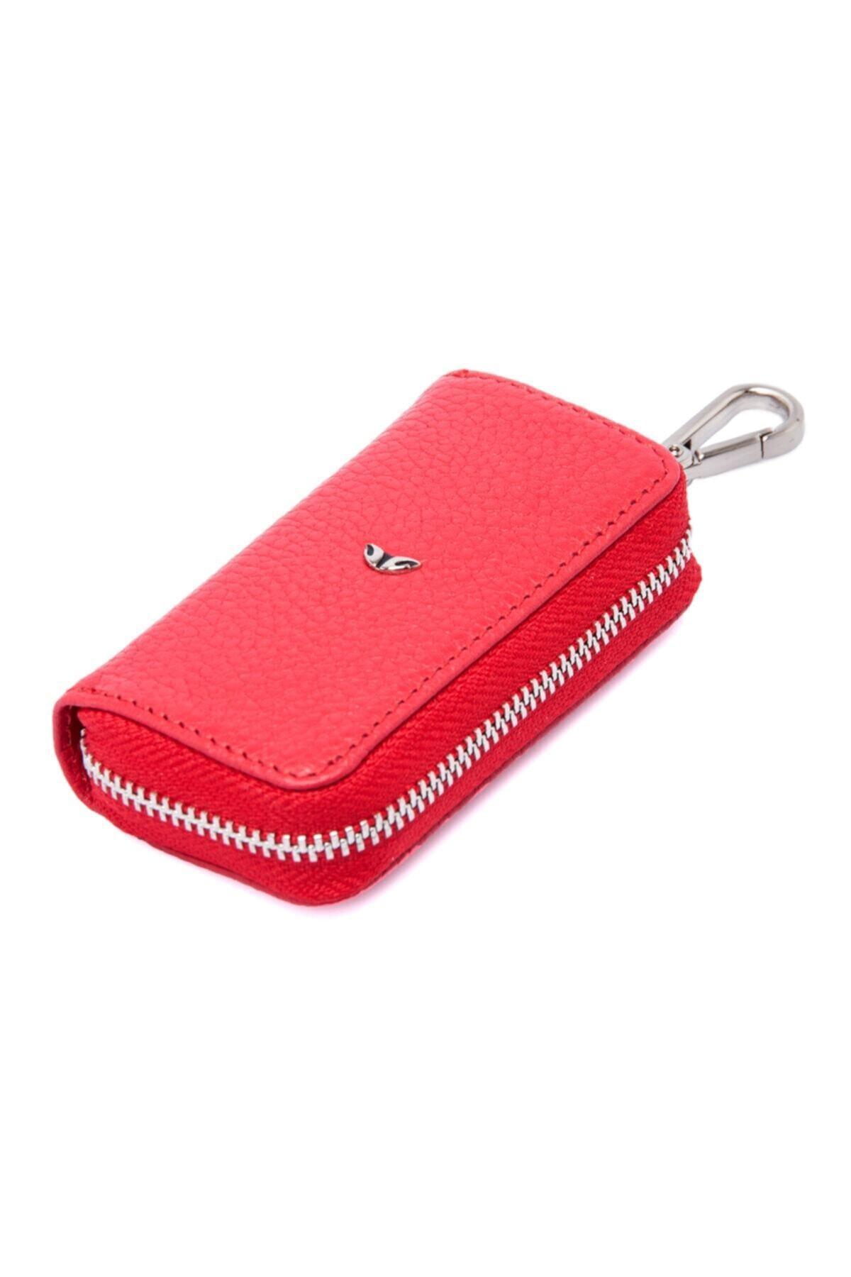 Tergan Kırmızı Deri Unisex Anahtarlık 00257b8ı 1