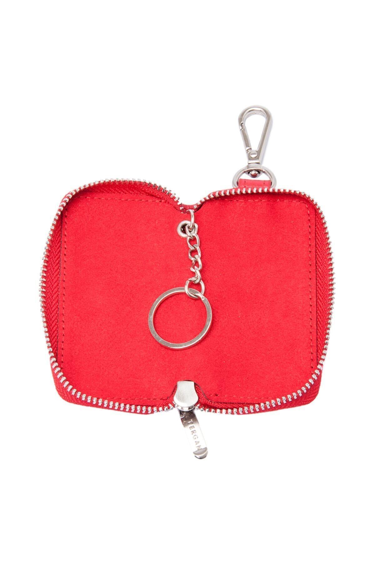 Tergan Kırmızı Deri Unisex Anahtarlık 00257b8ı 2