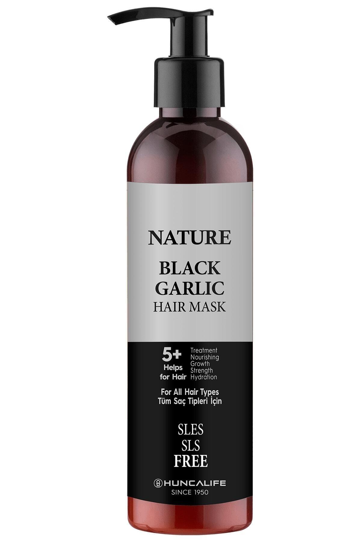 Huncalife Nature Siyah Sarımsaklı Saç Maskesi 250 Ml 1