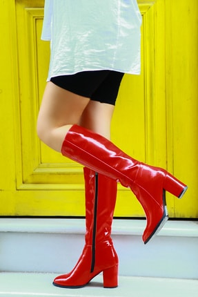 TRENDBU AYAKKABI Kırmızı Kadın Çizme