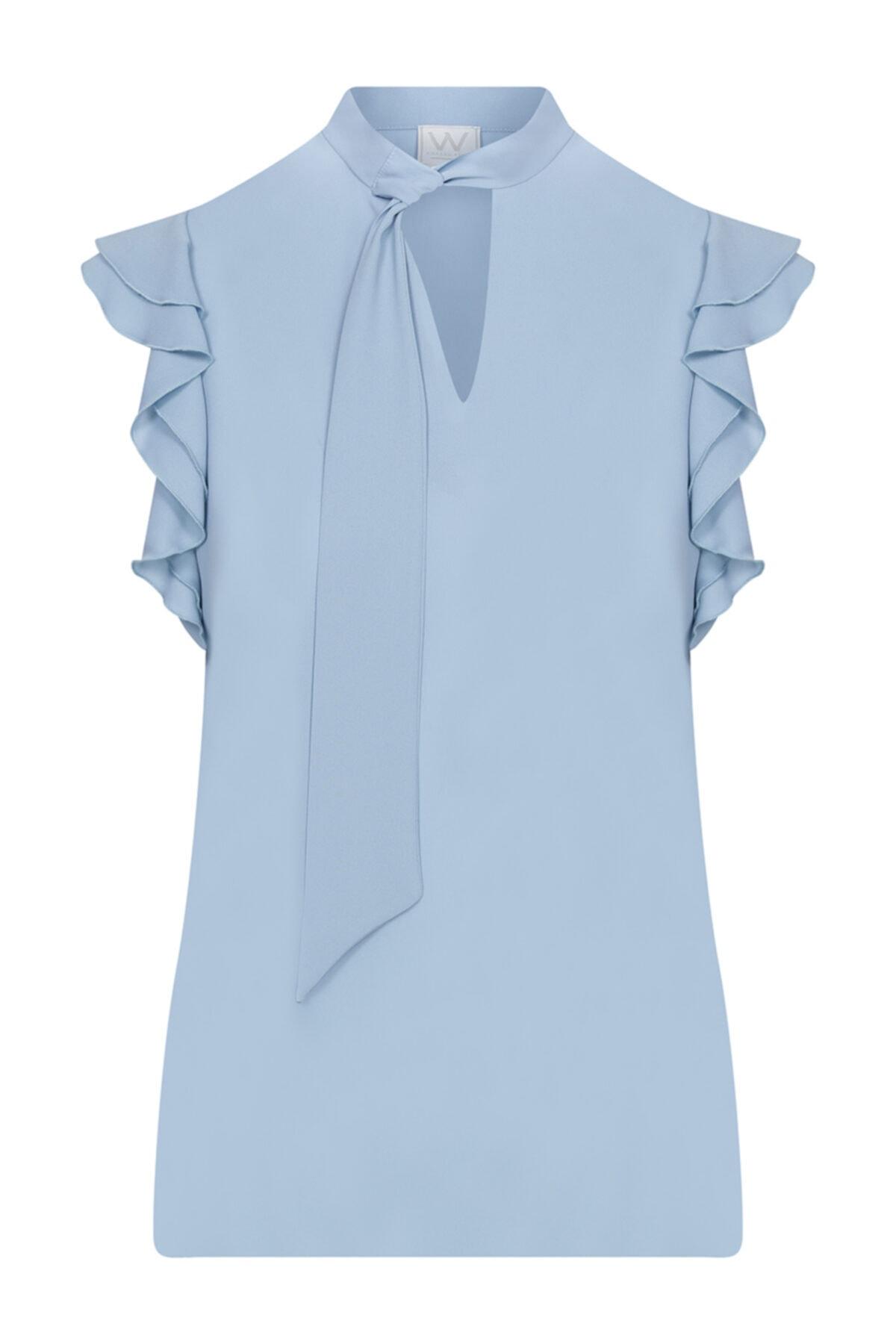 W Collection Kolsuz Şifon Bluz 1