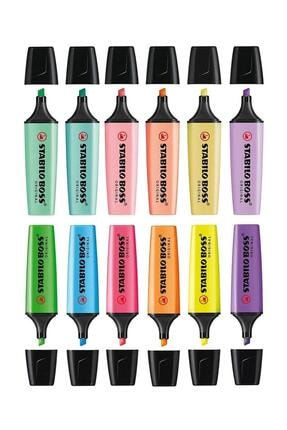 Stabilo 6 Pastel 6 Canlı Renk Boss