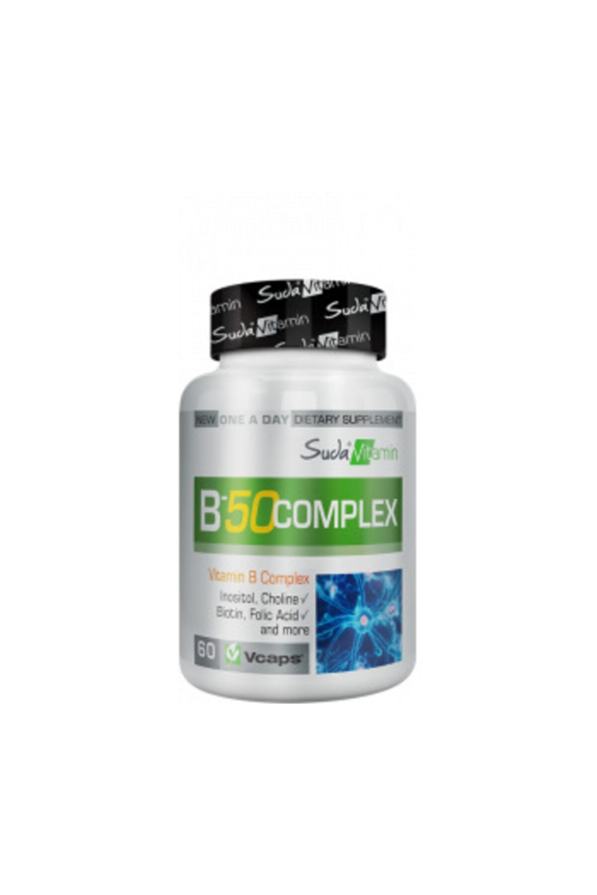 Big Joy Vitamin B-50 Complex 60 Kapsül 3 Adet 1