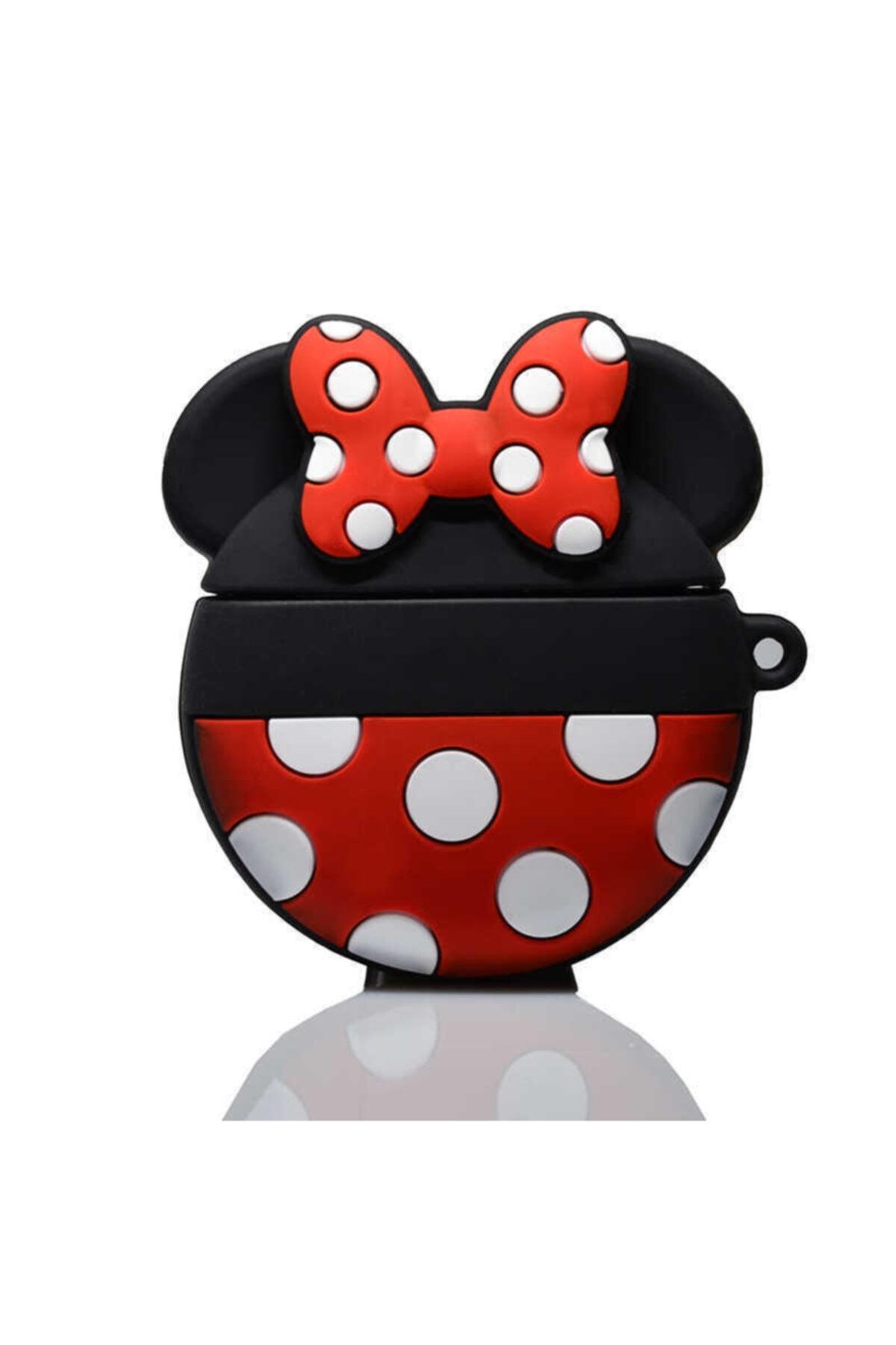 zore Apple Airpods Uyumlu Silikon Mickey Mouse Figürlü Korumalı Wireless Şarj Destekli Darbe Emici  Kılıf 1