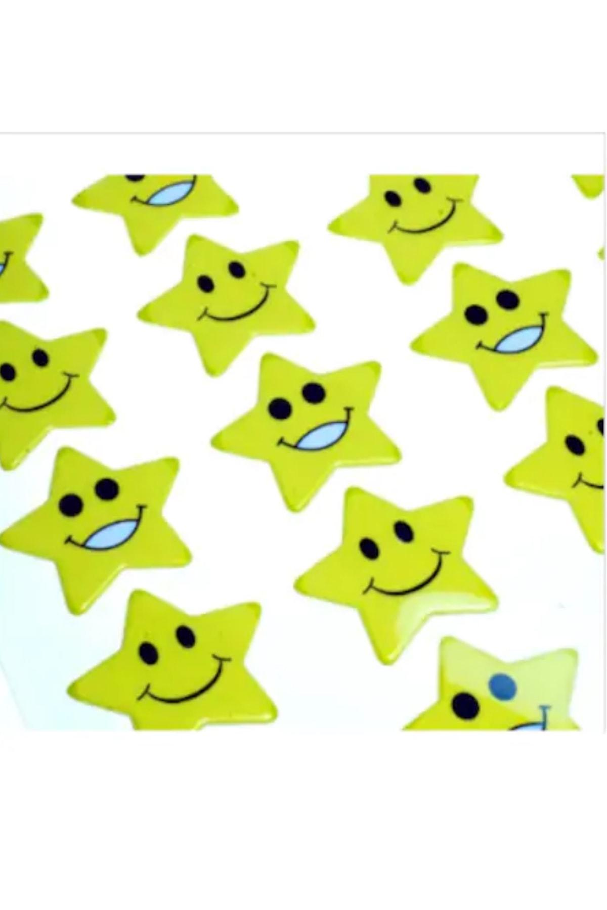 Face Yıldız Gülen Yüz Sticker 54 Adet 2,5 Cm 1