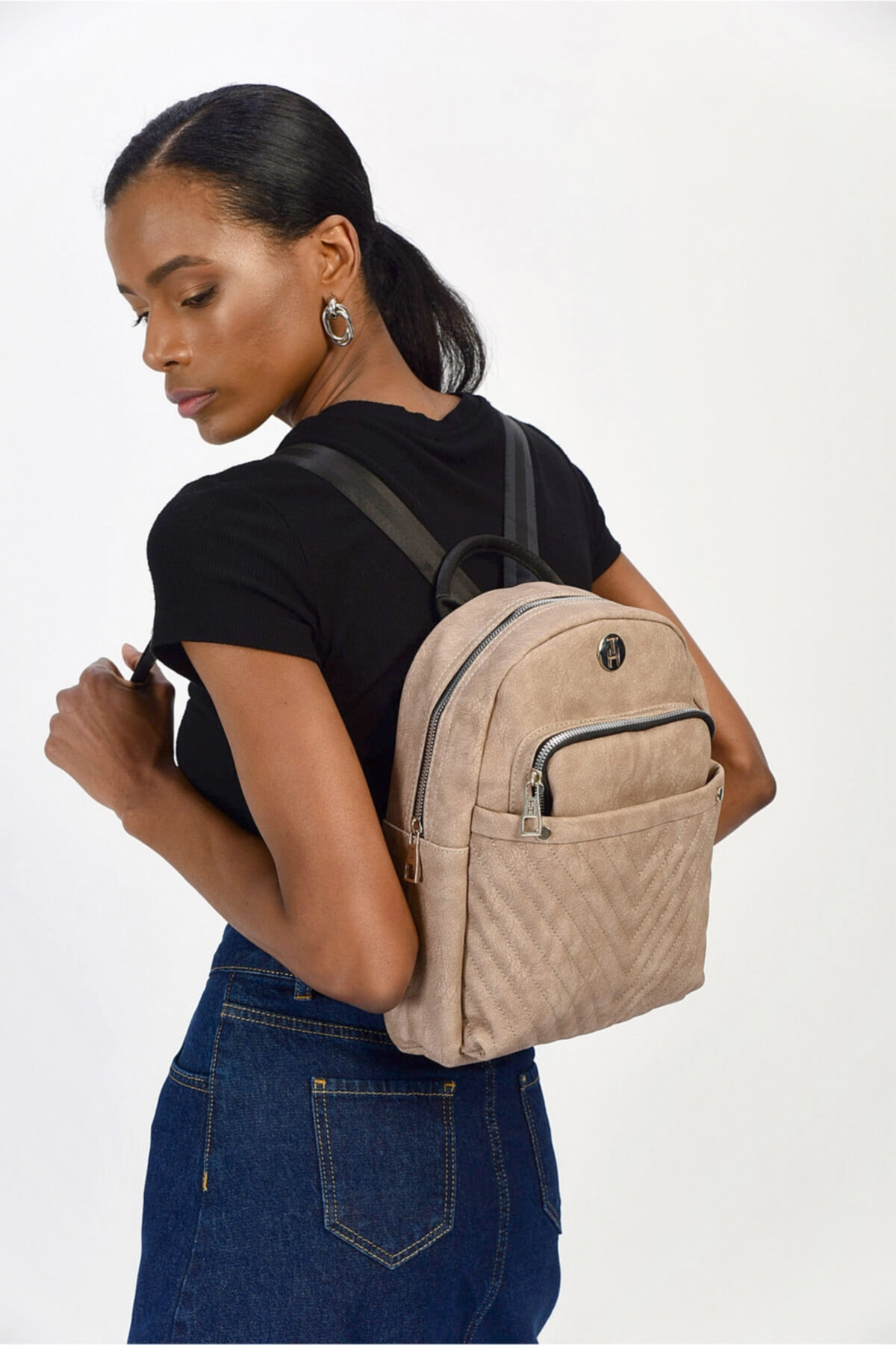TH Bags Kadın Kahverengi Omuz Çantası Th86000 1