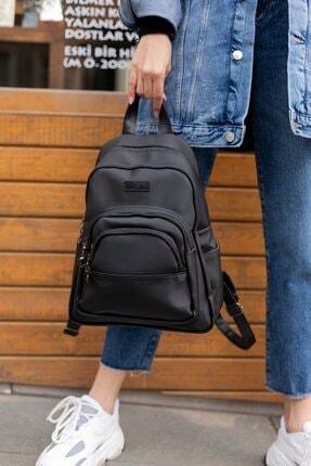 Shule Bags Dalgıç Kumaş Çok Gözlü Sırt Çantası Roch Siyah