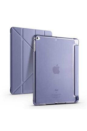 "Fibaks Apple Ipad 6. Nesil Uyumlu 9.7"" Kılıf Kalem Bölmeli Tri Folding Smart Standlı Silikon Tam Koruma"
