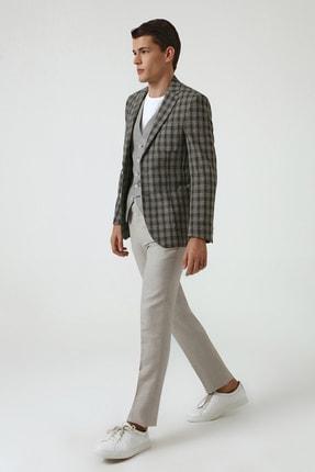 D'S Damat Yeşil Renk Erkek  Yelekli Takım Elbise (Slim Fit)
