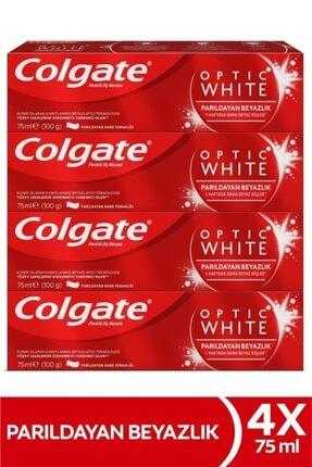 Colgate Optic White Parıldayan Beyazlık Beyazlatıcı Diş Macunu 4 X 75 ml