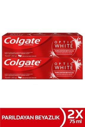 Colgate Optic White Parıldayan Beyazlık Beyazlatıcı Diş Macunu 2 X 75 ml