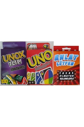 HALFART Uno Unox ve Anlat Lütfen Kart Oyunu Set