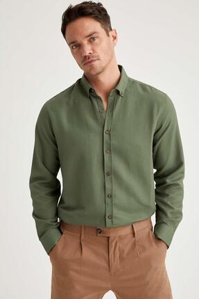 DeFacto Modern Fit Uzun Kollu Basic Gömlek