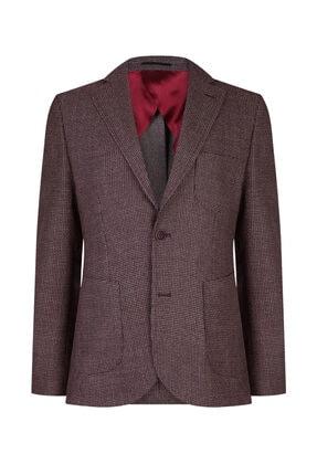 W Collection Erkek Bordo Balık Sırtı Air Ceket
