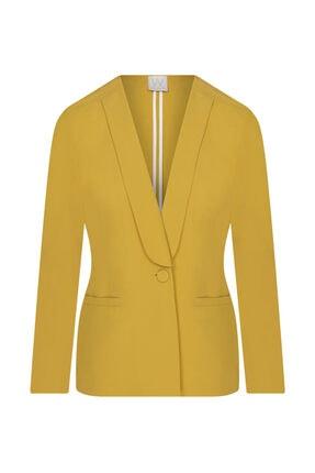 W Collection Kadın Sarı Aller Yakalı Ceket