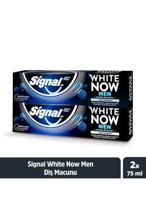 Signal White Now Men Anında Beyazlık + Leke Giderici Diş Macunu 75 ml X2