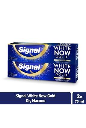 Signal White Now Gold Anında Beyazlık Sağlayan Diş Macunu 75 ml X2