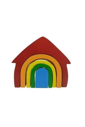 Arda Ahşap Oyuncak Ahşap Waldorf Canlı Renkli Ev Eğitici Bloklar