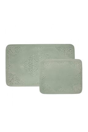 Karaca Home Su Yeşili Damila Tiffany 2 Parça Banyo Paspası 200.15.01.0266
