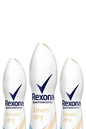 Rexona Kadın Deodorant Sprey Linen Dry 150 Ml X 3