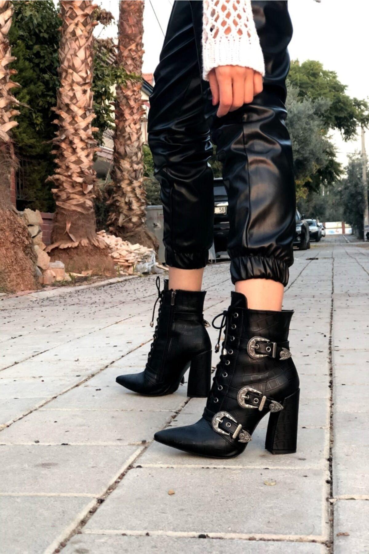 Ayakkabı Ateşi Siyah Kadın Bot & Bootie 1