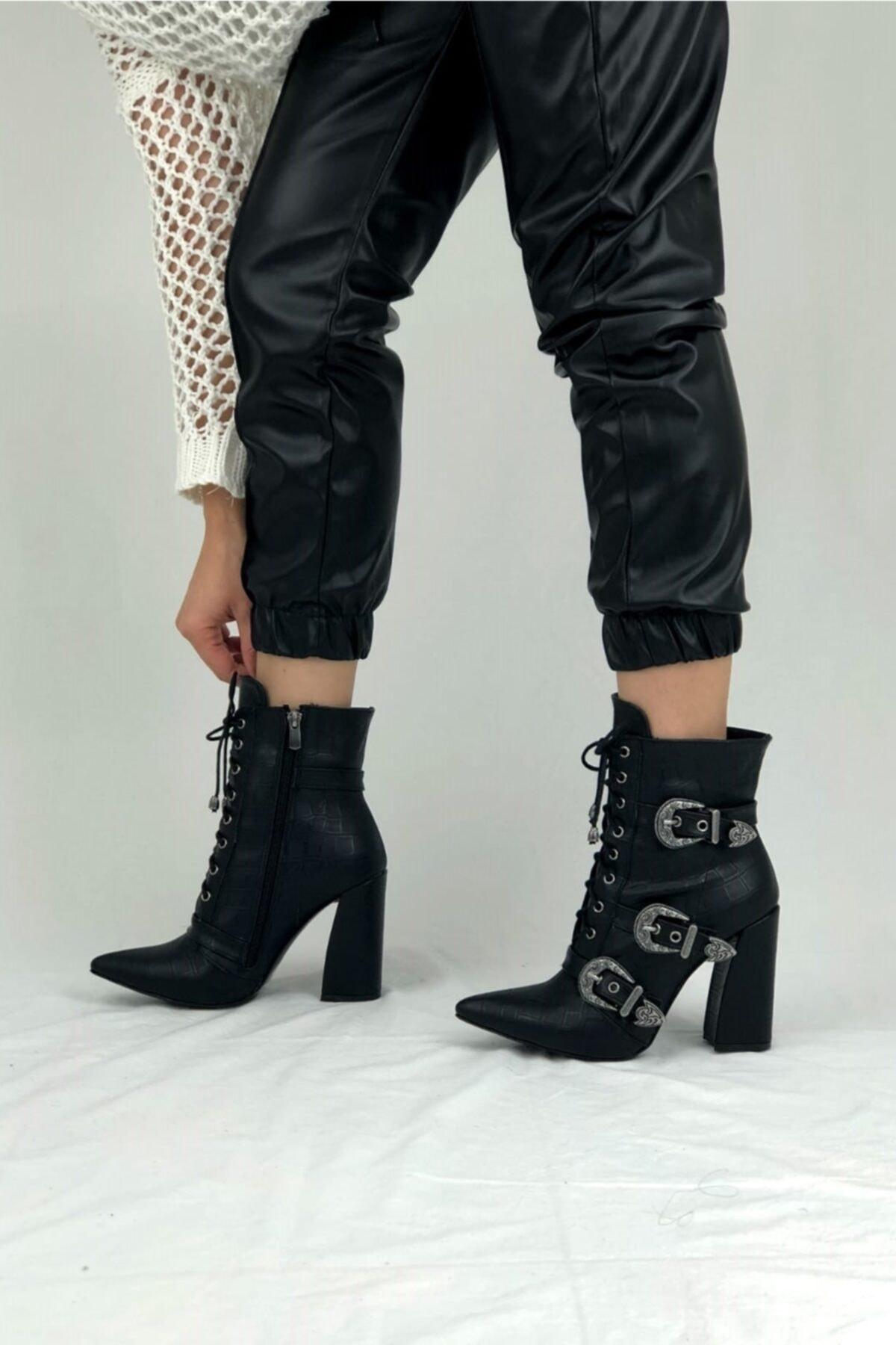 Ayakkabı Ateşi Siyah Kadın Bot & Bootie 2
