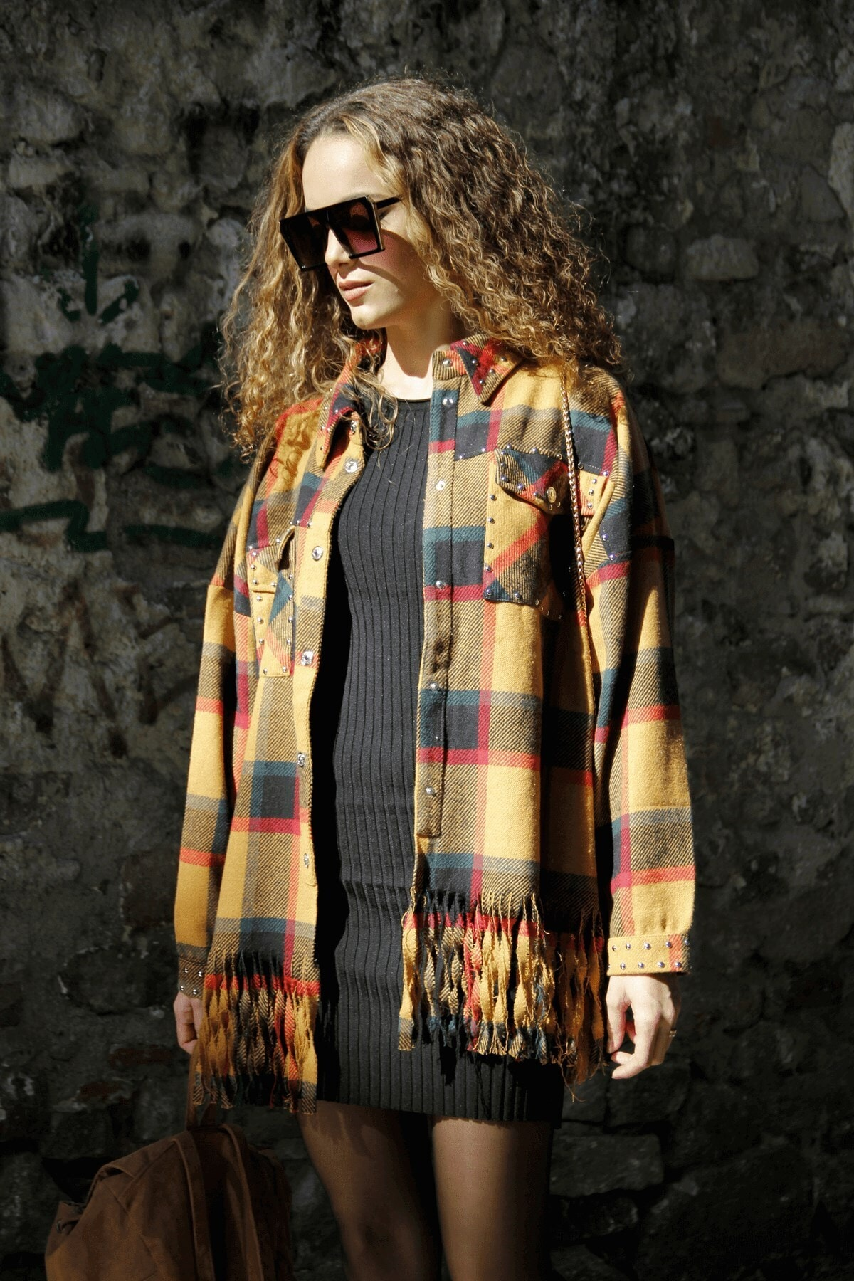 butikgogirl Kadın Turuncu Oduncu Model Ceket Gömlek 1