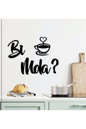 Miana Lazer Bi Mola? Kahve Duvar Yazısı Bi Mola Kahve 25x18cm Motto Mutfak Dekoru Hediyelik Dekoratif Yazılar